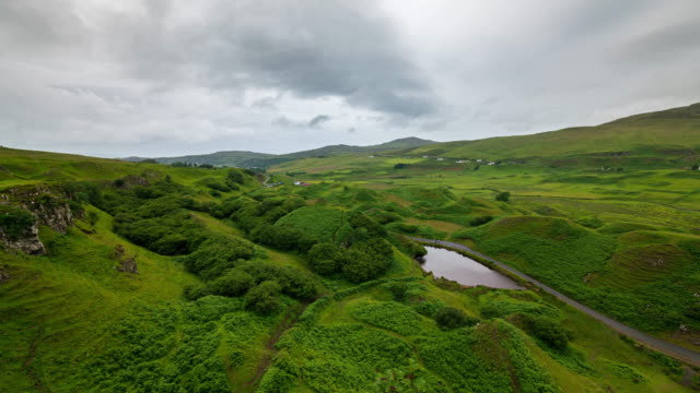 timelapse of the fairy glen in the isle of skye - valley stock videos & royalty-free footage