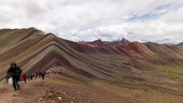 Timelapse of the famous Rainbow Mountains
