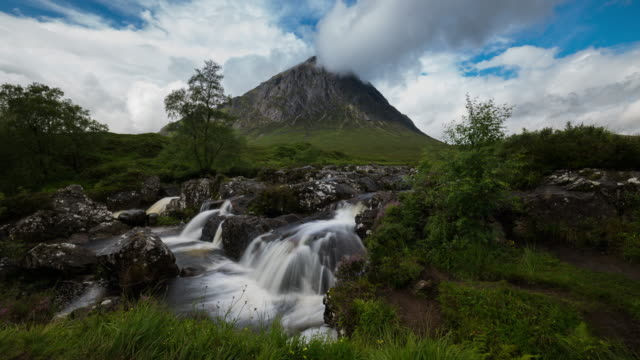 Timelapse of the famous waterfall in Glencoe