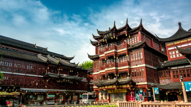 Timelapse of the famous Yuyuan Garden,Shanghai, China