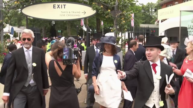 A timelapse of the first arrivals at Ascot Racecourse on day three of Royal Ascot
