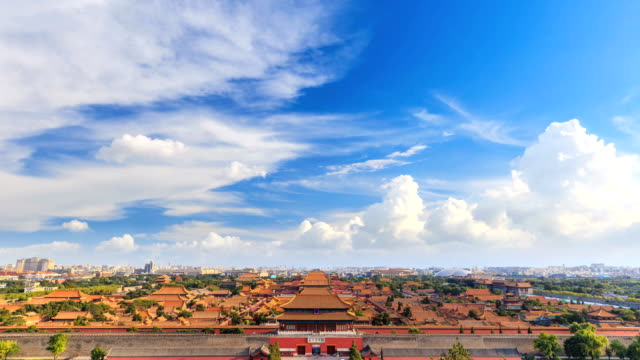 timelapse of the forbidden city - famous place stock videos & royalty-free footage