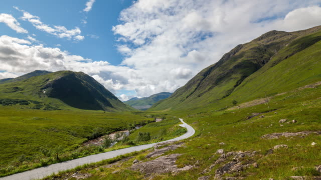 Timelapse of the Glencoe Valley in Scotland
