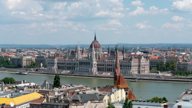 timelapse of the hungarian parliament building - traditionally hungarian stock videos & royalty-free footage