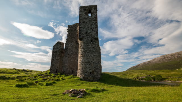 Timelapse of the iconic Ardvreck Castle in Scotland