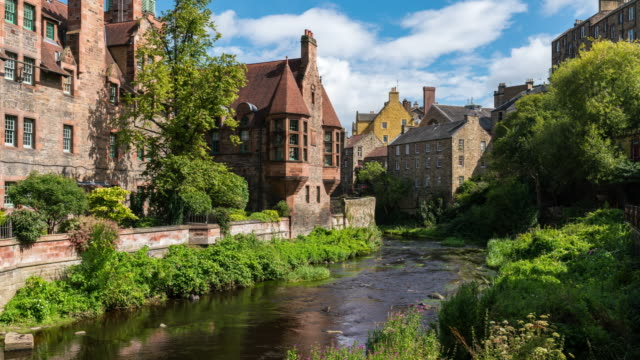 Timelapse of the iconic Dean Village in Edinburgh