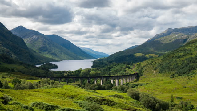 Timelapse of the Iconic Glenfinnan Viaduct in Scotland