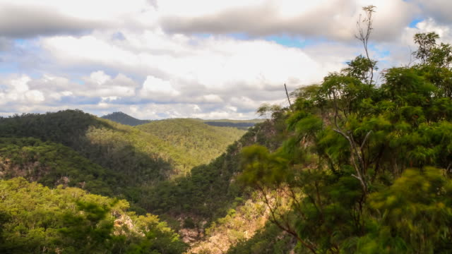 A timelapse of the landscape at Crow Nest, Queensland, Australia