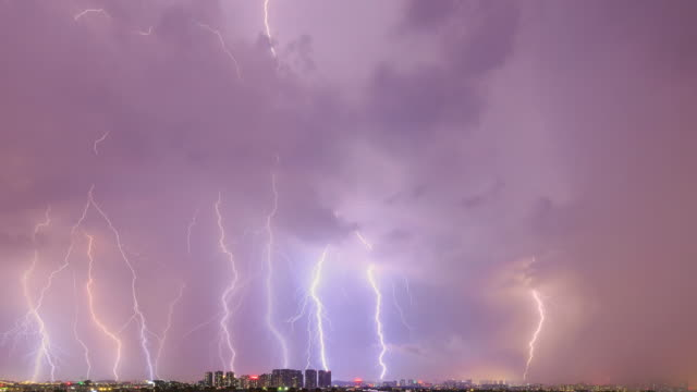 timelapse of the lightning - tropical storm stock videos & royalty-free footage