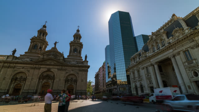 Timelapse of the main square of Santiago de Chile