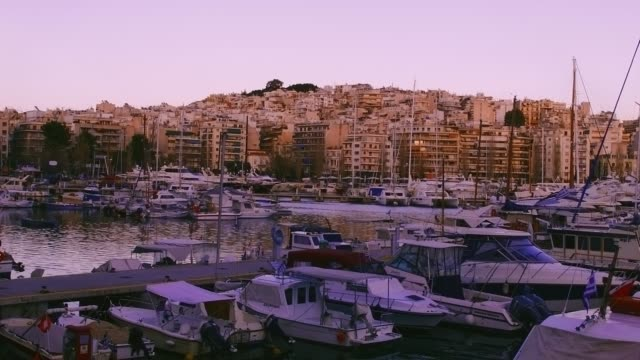 timelapse of the marina of pasalimani in piraeus