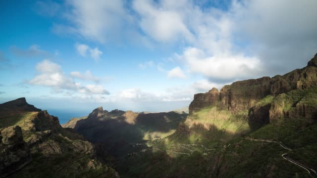 Timelapse of the Masca landscape in Tenerife