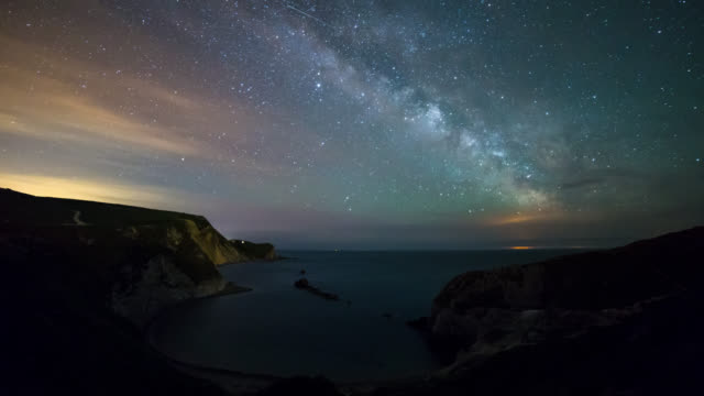DURDLE DOOR - TL: TimeLapse of the Milky Way rising at Man'o War Bay