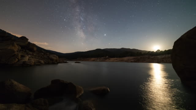 timelapse of the milky way - astronomy stock videos & royalty-free footage