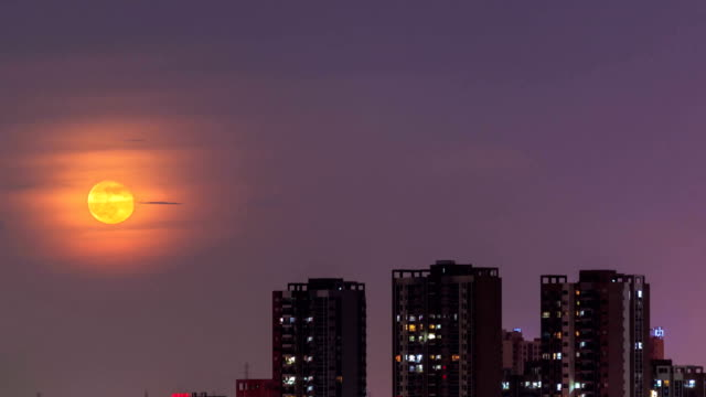 timelapse of the moon - supermoon stock videos & royalty-free footage