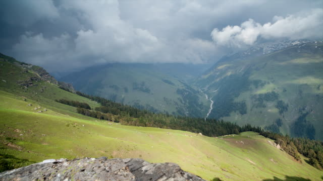 Timelapse of the mountain meadows of Pandu Ropa