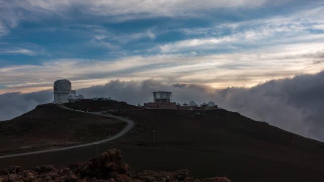 MAUI - Timelapse of the NAS Observatory during Sunset from Haleakalā National Park