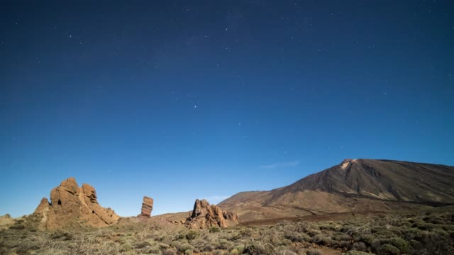 Time-lapse of the night sky at the Teide