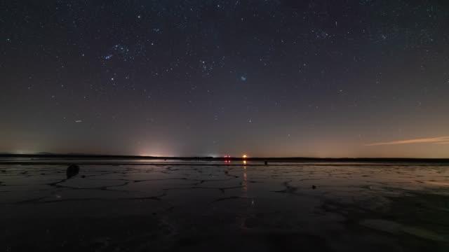 Time-lapse of the night sky in the Castilla de La Mancha