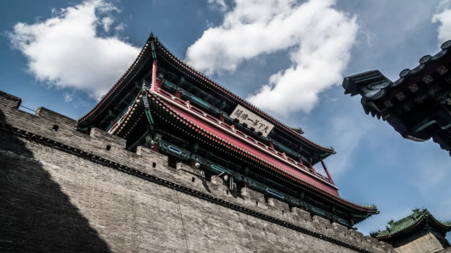 Timelapse of the Palace Hall and cloud at Juyongguan Great Wall, Beijing, China