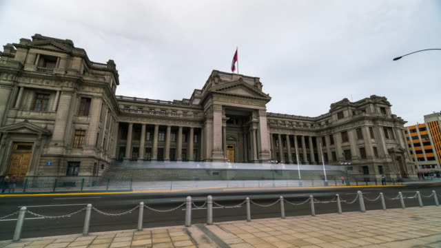 Timelapse of the Palace of Justice in Lima