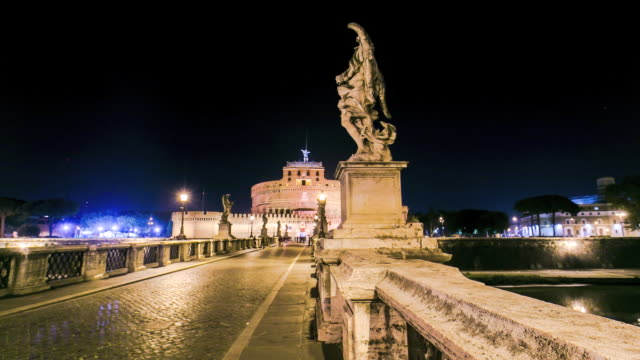 Timelapse of the Ponte Sant'Angelo in Rome, Italy