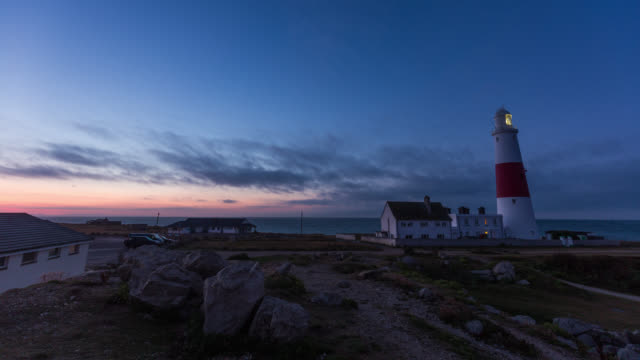 PORTLAND - TimeLapse of the Portland Lighthouse during Sunrise