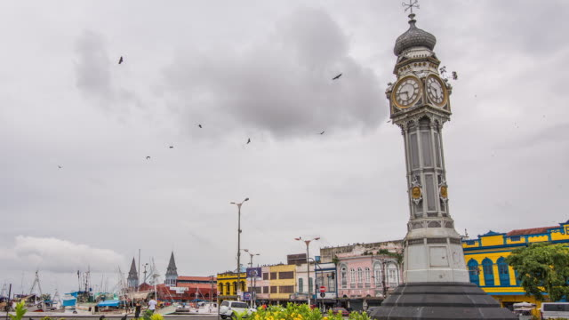 timelapse of the republic square - belém brazil stock videos and b-roll footage