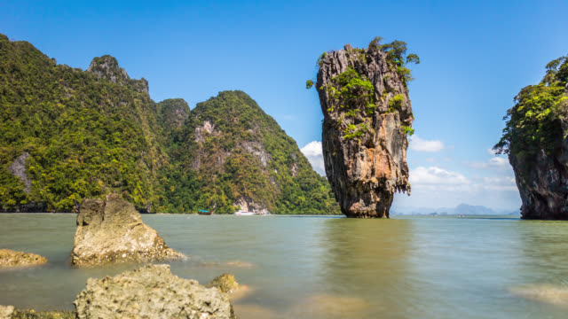 Timelapse of the rock at the Island, Thailand. January, 2016.