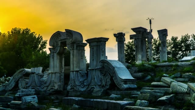 Timelapse of the ruins of the Yuanmingyuan Palace, Beijing, China