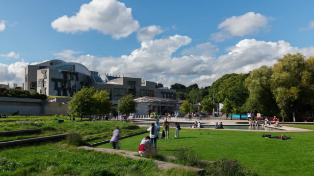 Timelapse of the Scottish Parliament
