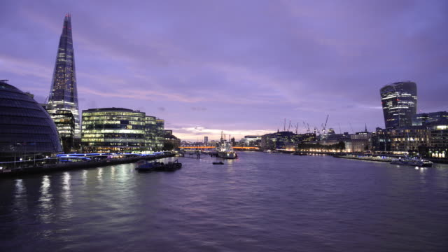 Time-lapse of The Shard and River Thames, London