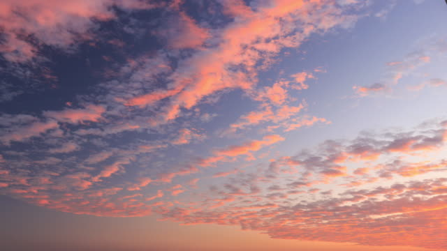 timelapse of the sky - cirrocumulus stock videos & royalty-free footage