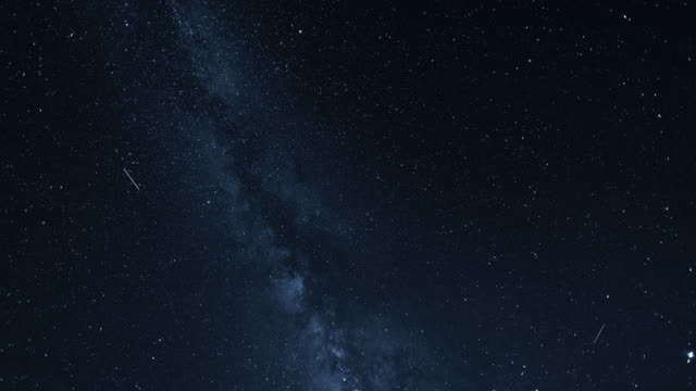 timelapse of the stars in milky way - meteor stock videos & royalty-free footage