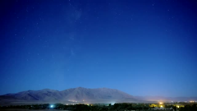 vídeos de stock, filmes e b-roll de timelapse of the stars moving across the sky during the perseid meteor shower in van eastern province of turkey on august 11 2015 the 2015 perseid... - chuva de meteoros