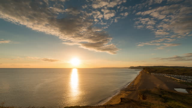 DORSET - TimeLapse of the sunset of the Jurassic Coast at West Bay
