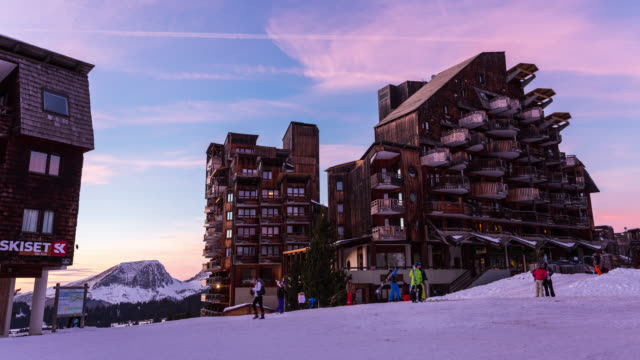 Timelapse of the Sunset, Portes du Soleil