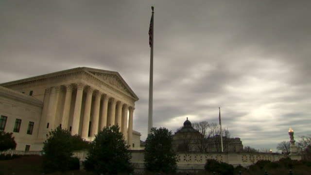 timelapse of the supreme court in the united states - supreme court stock videos & royalty-free footage