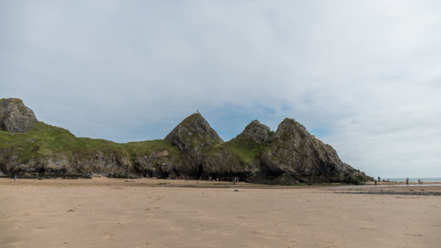 WALES - Timelapse of the Three Cliff bay beach
