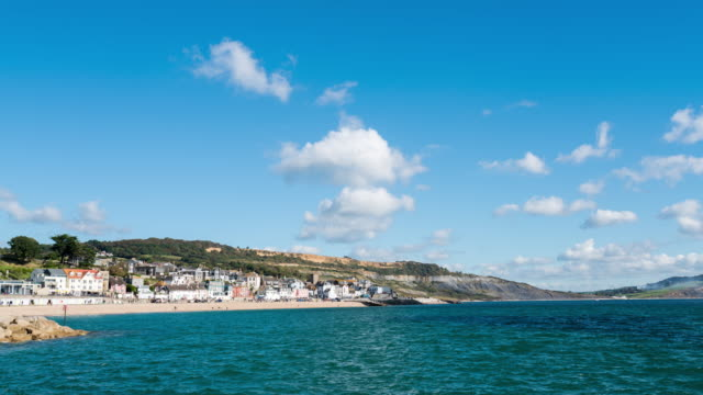 LYME REGIS - TimeLapse of the Town center from the port