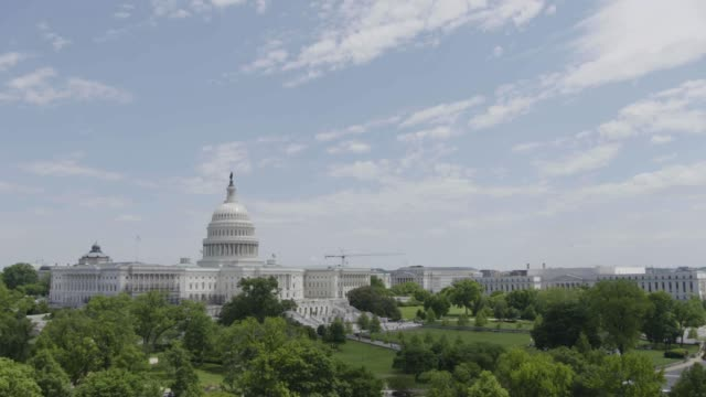 timelapse of the united states capitol building - united states congress stock videos & royalty-free footage