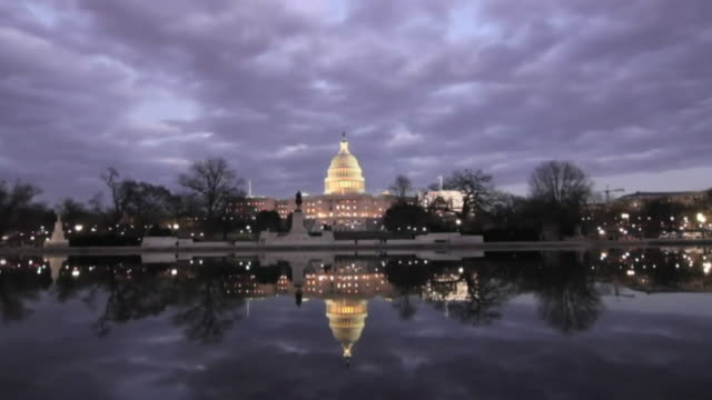 timelapse of the us capitol building - capitol building washington dc stock videos & royalty-free footage