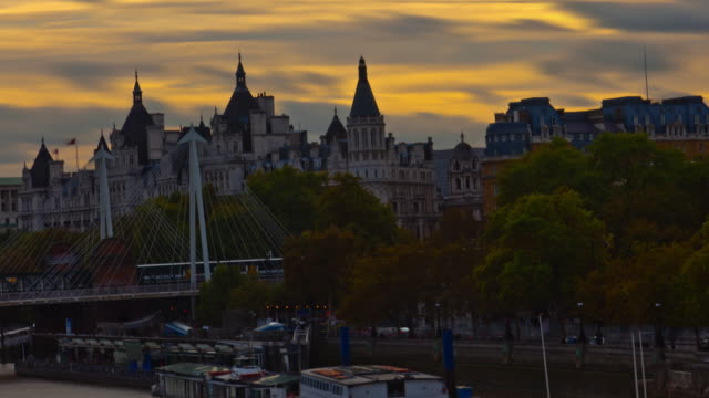 time-lapse of the victoria embankment in london - embankment stock videos and b-roll footage