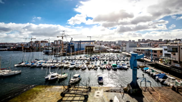 timelapse of the vigo harbor, spain - galicia stock videos & royalty-free footage