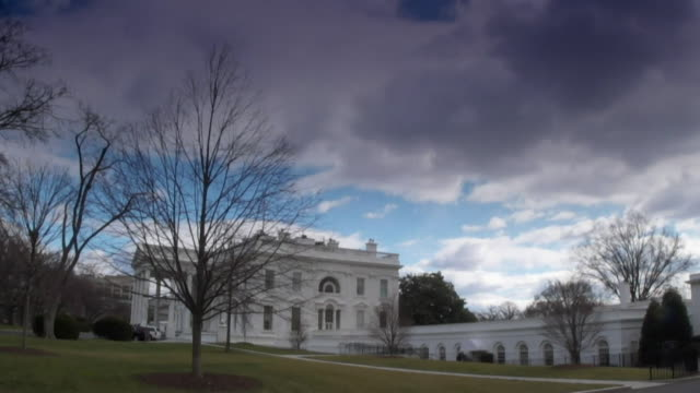 timelapse of the white house in the united states - white house washington dc stock videos & royalty-free footage