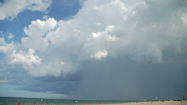 Timelapse Of Thunderstorm Moving Off The South Florida Coast (4K UHD)