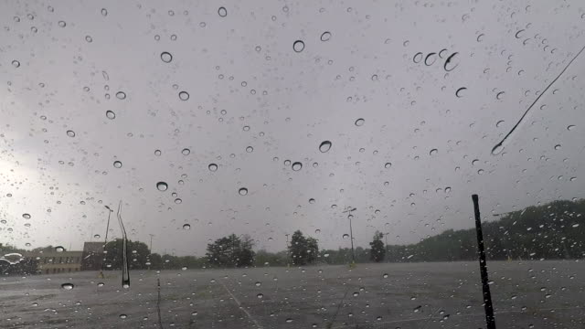 Timelapse Of Thunderstorm Passing Over A Vehicle