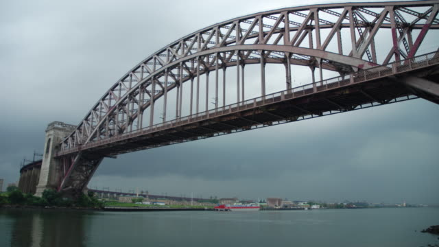 Timelapse Of Thunderstorms Passing Hell Gate Bridge & NYC Skyline