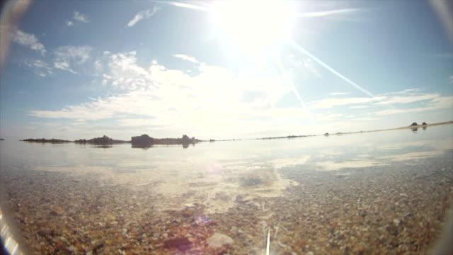 Timelapse of tide rising over camera