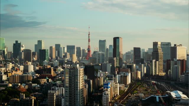 vidéos et rushes de timelapse de tokyo, japon - quartier financier